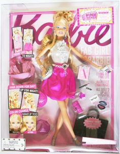 FAB GIRL Barbie Play Set Doll by MATTEL. $39.96. FAB GIRL Barbie Play Set Doll. Box Set comes with 3 Pieces of clothing,  lots of look!. Comes with fashion portfolio reveals an exclusive code for girls to unlock Barbie dolls world online. FAB GIRL Barbie Play Set Doll:     Box Set comes with 3 Pieces of clothing,  lots of look!  Pull the gems on Barbie dolls hairstyle to create a fabulous updo, her striped pencil skirt reverses to a satiny pink bubble skirt, and girls...