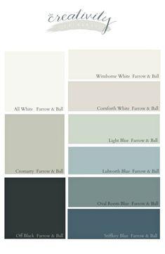 painting Palette Farrow Ball - Favorite Farrow and Ball Paint Colors. Exterior Color Schemes, House Color Schemes, Exterior Paint Colors, Exterior House Colors, Exterior Design, Hallway Colour Schemes, Exterior Doors, Bathroom Paint Colors, Paint Colors For Living Room