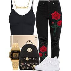 A fashion look from June 2017 by miizz-starburst featuring BasicGrey, Vans, ALDO, me you and Casio