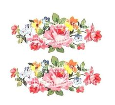 Classic Vintage Chic Pink Roses Decals Shabby Beautiful Waterslide Transfers | eBay