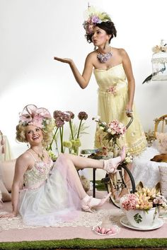 """tea party"" fashion photography 