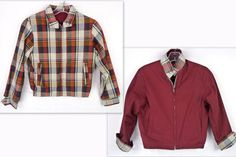 Vintage 50s 60s Reversible Shadow Plaid/Red Rockabilly Jacket 10/12 M BOYS Youth #Unbranded