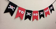 Pirate Party Birthday Decorations Banner Baby by TheGirlNXTdoor