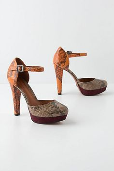 Diamantina Heels #anthropologie #snakeskin