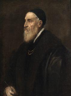 """Titian (Tizanio Vecellio), """"Self-Portrait,"""" c. 1562, oil on canvas, 86 x 65 cm, Museo del Prado, Madrid"""