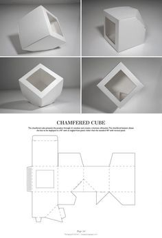 Chamfered Cube - Packaging & Dielines: The Designer's Book of Packaging Dielines Más Packaging Dielines, Paper Packaging, Box Packaging, Packaging Design, Packaging Nets, Retail Packaging, 3d Templates, Buch Design, Creative Box
