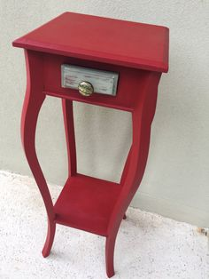 Emperor's Silk letterbox red Annie Sloan planter or by NotNaff