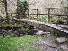 Log Footbridge - the kind between Sawyer's Rest and the Beeler cabin Walkway, Garden Bridge, Rest, Journey, Outdoor Structures, Cabin, River, Children, Sidewalk