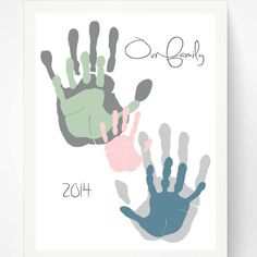 Thanksgiving Handprint Art for Grandma in DIY kits and personalized prints.