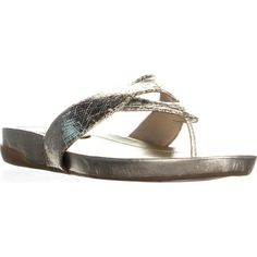 4136fe4619b0ee Anyssa Slide Thong Flip Flop Sandals Gold Multi  fashion  clothing  shoes   accessories