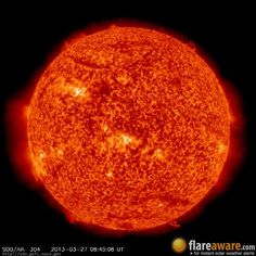 The hourly sun (at 08:45 am  UTC on 27 March 2013)