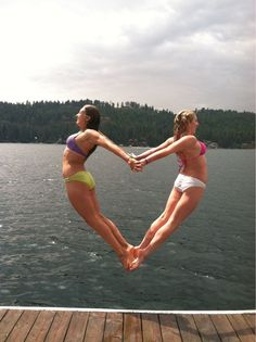 My friend and I tried this heart jump all day for perfect timing - Imgur