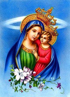 Images pieuses (La Vierge et l'enfant )