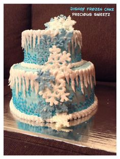 Disney Frozen cake made by Precious Sweetz! Meeeeeeee :) Another favorite!