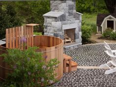 Pick Your Favorite Outdoor Space Yard Crashers, Outdoor Spaces, Outdoor Living, Outdoor Decor, Cobblestone Pavers, Circular Patio, Patio Pictures, Sloped Backyard, Concrete Pavers