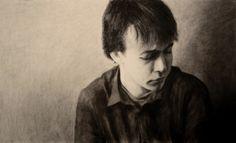 charcoal portrait by Heather June