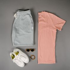 Richer Poorer Grey Sweatshorts - Men's Outfit Grid