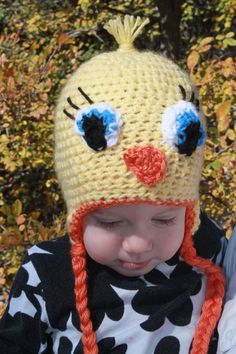 Tweety Bird Crochet hat....Adorable