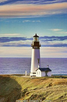 Yaquina Head Lighthouse North of Newport, Oregon