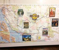 National Park patches idea Route Map California Utah Arizona Nevada