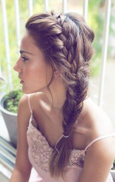 side french into fishtai braid