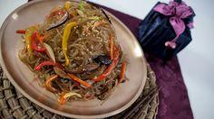Korean Japche (fried noodles) Recipe - Korean Series video 3 - CookingWi...