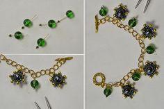 Green Chain Charm Bracelet