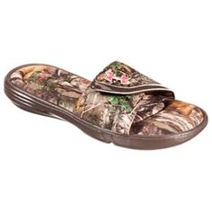 5c6170fa0f64 Under Armour Ignite VII Camo Slide Sandals for Ladies - Cleveland Brown Realtree  Xtra -