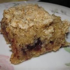 Cranberry bars (half the butter & sugar & layer the mixture Oats-Cranberry-Oats