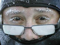 Frozen Eyes in -17 degree weather~