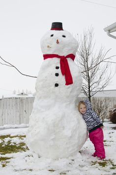 snowman pictures | sometimes your husband makes a huge snowman,