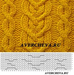 Cable Knitting Patterns, Knitting Stiches, Knitting Charts, Lace Knitting, Knitting Designs, Knit Patterns, Knitting Projects, Crochet Stitches, Stitch Patterns