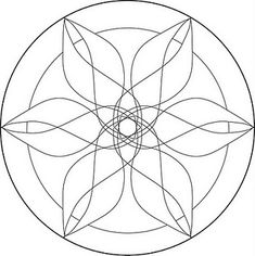 Free Mandala Templates would have to simplify a few of the lines to make stained glass but cool idea