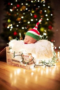 Newborn 2015 Christmas Lights Photos, Creative and Personalized 2015 Christmas Lights Photos