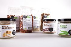 Identity & Packaging RAW Superfood by Lennaert Stam, via Behance