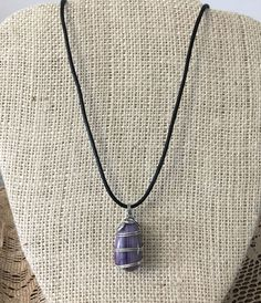 Wirewrapped Purple Agate Pendant, Handcrafted Amethyst Stone Necklace #MDHcrafts #Pendant