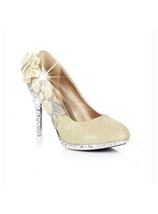 Shop Graceful Upper Stiletto Heels Closed Toes Wedding Bridal Shoes On Sale At Tidestore With Trendy Design And Good Price Come Find More Fashion Prom