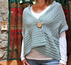 Knitting Pattern Shawl THE SEABROOK cape wrap by TheAutumnAcorn