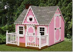 Casinha de brinquedo cor-de-rosa