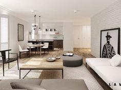nasycone bielą - Salon, styl eklektyczny - zdjęcie od LAVA Projektowanie Wnętrz