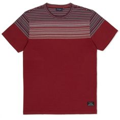 Paul Smith Men's T-Shirts | Red Stripe Panel T-Shirt