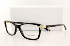 VERSACE Eyeglasses Frames 3156 GB1 BLACK for Women