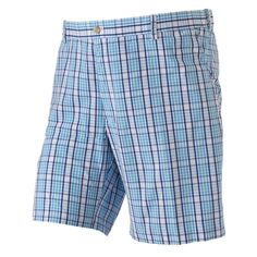 Big & Tall IZOD Portsmouth Classic-Fit Plaid Shorts, Dark Blue