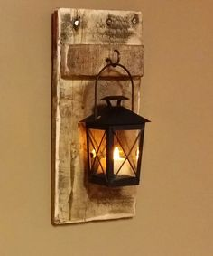 Rustic wood lantern Candle Holder, x wood sconce, pallet decor, candle holder, hanging lantern price is for 1 Each Rustic Candle Holders, Rustic Candles, Lantern Candle Holders, Candle Lanterns, Rustic Wood, Rustic Decor, Barn Wood, Wood Sconce, Wood Lamps