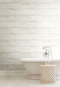 Shiplap is usually used as a device. This base building becomes a charming, weathered backdrop with the warmth of organic woodgrain and the feel of a house with a story. This amazing Shiplap pattern by Joanna Gaines is the… Continue Reading → Zen Bathroom, Bathroom Plants, Bathroom Wallpaper, Home Wallpaper, Small Bathroom, Washroom, Bathroom Ideas, Dream Bathrooms, Beautiful Bathrooms