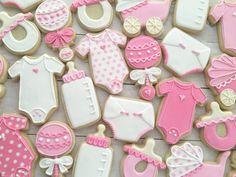 Baby Shower Decorated Cookies Sugar Cookies by MilkandHoneyCakery