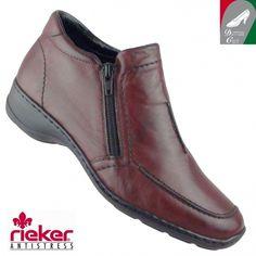 Rieker női bőr cipő 58386-35 bordó Marketing, Chelsea Boots, Ankle, Shoes, Fashion, Zapatos, Moda, Shoes Outlet