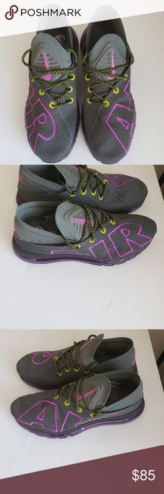 5a9f3cff975a Men s Nike Air Max Flair Up Tempo Running Gray Men s Nike Air Max Flair Up  Tempo Running Gray Purple Volt. New without Box Nike Shoes Athletic Shoes