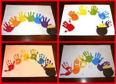 rainbow handprint art
