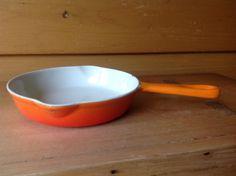 Vintage Cousances France #16 Orange Ombre Saucepan Small by TheTravelingTwins on Etsy